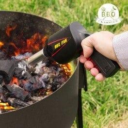 Ventilateur barbecue – Pour raviver les braises – Barbecues et cheminées – Mécanisme à air – Emballage sous blister –