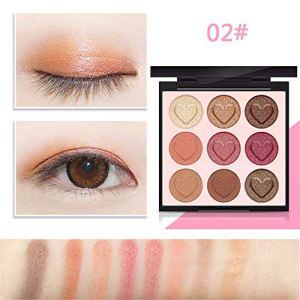 Wysgvazgv 9 Couleurs Palette Fards à Paupières Pailleté Matte, Shimmer Ombre à Paupière Glitter Maquillage Palette d'ombre à paupières Eyeshadow Palette Hautement Pigmenté Imperméable