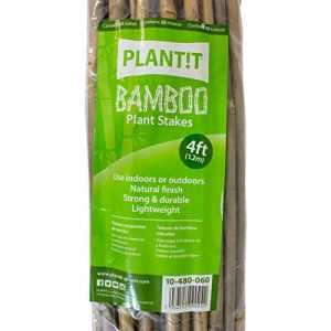 25x Tuteurs / Tiges de bambou naturel pour plantes 6/8mm (120cm)