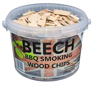 3litres de copeaux de bois pour barbecue ou fumoir Beech hêtre