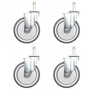 4 * Roulette Universelle 4 Pouces TPR Roue De Repas Plug-in Chariot Charge De La Roue Portant 320kg Gris
