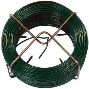 Connex FLOR78610 Fil de fer avec gaine en plastique Vert 1,4mm x 50m
