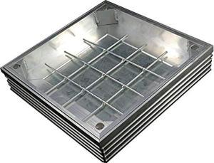 EcoGrid TSL-Pro-Line-80 Couvercle encastré Triple en Aluminium 500 x 500 x 61 mm
