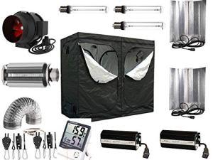 Générique Growbox Kit Complet 600 W – 1200 W NDL Filtre (AKF) 240x120x200 Pro