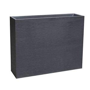 Jardinière Graphit Loft XL grise – 99.5 x 29.5 x 78.5cm 63L – EDA Plastique