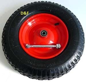 Roue de brouette avec pneumatique 4.80/4.00–8 avecessieu de 390 mm de diamètre –200 kg