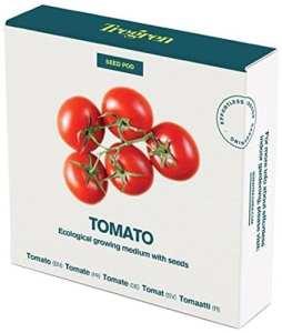 Tregren Kit de graines Tomates Cerises pour Potager d'intérieur autonome – Kit d'une capsule prêt à pousser avec graines de Tomates cerises. Récoltez vos Tomates en quelques semaines et sans effort!