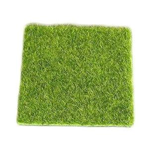 WopenJucy Décoration de Jardin Artificielle en Forme de pelouse Vert Mousse DIY Miniature Décoration de Jardin Micro Paysage 1 pièce 15 x 15 cm