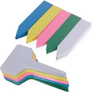 150PCS Etiquettes en Plastique Nabance Etiquettes Plante Etiquettes pour Graine Tag Jardin Etiquettes Kit(5 Couleurs)