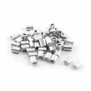 50PCS 1mm Câbles d'acier en fil d'aluminium Embouts Rope 5mm x 2mm
