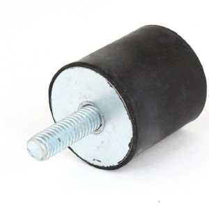6mm Homme 25mmx25mm de fils de caoutchouc de base de vibrations Mont noir