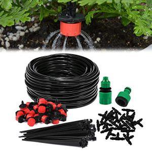 Aiglam Système d'irrigation Garden, Kit d'irrigation Goutte à Goutte Micro Irrigation Automatique Kit d'irrigation Goutte avec arrosage Automatique Irrigation de Jardin pour Paysage, Plate-Bande