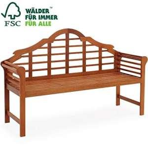 DEUBA | Banc de jardin «Marlboro» – en bois dur d'Eucalyptus – 2 places | Stable et durable – Banc de balcon/terrasse