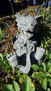 Dragon! Jardin! Rire! Figure pour le jardin! Drôle! Décoration!