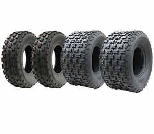 Ensemble de quatre pneus quad Slasher 21×7-10 / 20×11-9 Wanda Race route légalisée E marquée