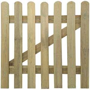 Festnight Portillon en Bois imputrescible Clôtures de Jardin Clôtures et barrières 100 x 100 cm