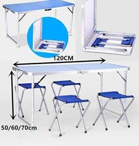 Generic et chaises Table de fête fête Portable Pliant Camping BBQ Party Couleur aléatoire Table C Pique-Nique BBQ