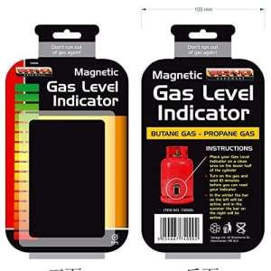 Indicateur magnétique de niveau de gaz, butane, propane, GPL, pour la maison, la caravane, le barbecue