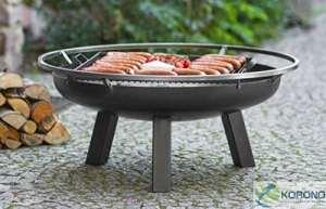 korono 2en 1Brasero 80cm avec trou & grille 58x 58cm–élégant éclairage & Barbecue mobile