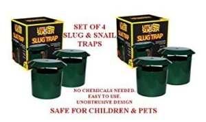 Lot de 4 pièges à base de bière pour limace/escargot Sans produit chimique Sans danger pour les enfants et les animaux
