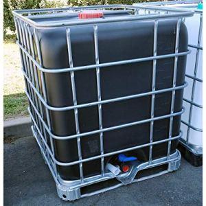 Multitanks – Cuve IBC 1000 litres NOIRE opaque d'occasion sur palette acier
