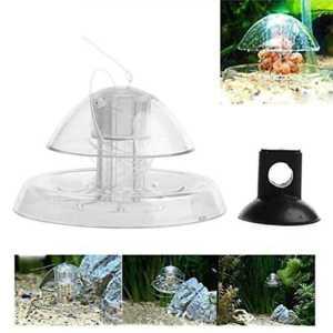 POPETPOP Aquarium Snail Catcher Piège à escargots en Plastique Transparent Fish Tank Snail Catcher (S)