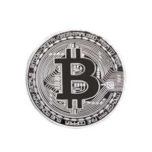 ROSENICE Bitcoin Collectible physique BitCoin Art Collection Souvenir cadeau (argent)