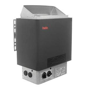 Sauna Poêle Électrique HELO CUP Graphite, Gamme de puissance: 4.5 kW; 6.0 kW; 8.0 kW; 9.0 kW; avec unité de contrôle intégrée (thermostat et minuterie); Multi-Tension: monophasé ou triphasé; Design Classique; Assemblé en Finlande (60STJ: 6.0kW sans Pierres)