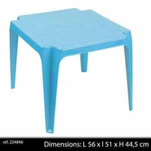 Sunny Days 224846 Table Empilable Bleu