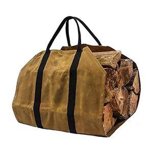 Tissu Oxford Sac de rangement pour le bois de chauffage de rangement pour le bois de chauffage Sac fourre-tout Très grand support à bois de chauffage Poignées Sac de transport Accessoires de cheminée