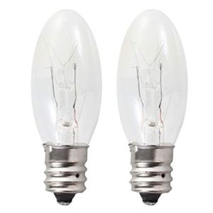 Uonlytech Ampoules à 2Lampes à Incandescence de 15W E12Ampoules à Chandelier à lumière Chaude