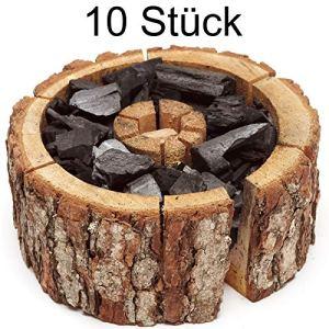 Verico Eco Lot de 10 grilles jetables à Charbon de Bois Taille M 16-20 cm