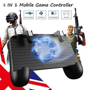 Wysgvazgv Contrôleur de Jeu Mobile pour PUBG,4 en 1 Trigger Aim Puissance Mobile Radiateur Déclencheur de Jeu Contrôleur Shooter Joystick Gamepad pour 6.5 » ou Moins Android iOS