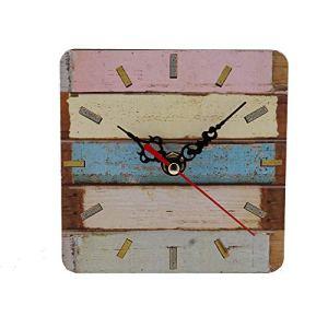 ZYUEER Horloge Classique rétro Non tic-tac décoratif Horloge Murale Pas Cher (Multicolore C)