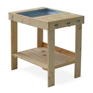 Alice's Garden Table de rempotage Jacinthe avec bac Amovible, Table de préparation en mélèze FSC, Table pour semis