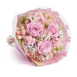 Bouquet Momenti – Sanremo fleurs séchées de la Riviera dei Fiori avec trois roses stabilisées (Rose)