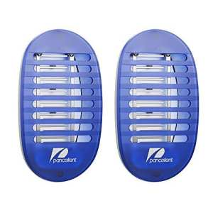 Bug Zappers Pancellent Moustique Killer Lampe Electronic Insect Killer avec Night Light(2PACK)
