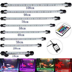 DOCEAN Aquarium Éclairage LED Lighting RGB 108cm Lampe 5050 SMD 63 LEDs lumière pour le poisson réservoir Prise européenne étanche IP68