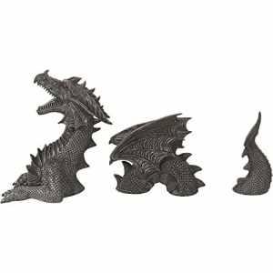 Dragon! Composé de 3 pièces! Great! Intérieur et extérieur! Figure!