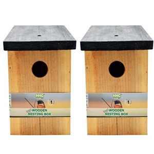 Handy Home and Garden 2 x Maison d'oiseau Nid d'Oiseau en Bois Traité sous Pression en Bois HHGBF018