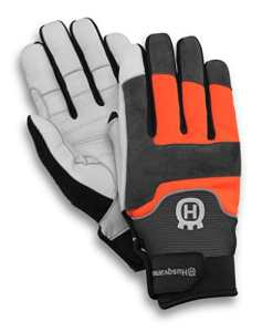 Husqvarna Technical – Gants de jardinage en cuir, polyester noir, gris, orange