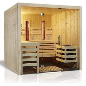 Inbekannt 391031 Infraworld Sauna Panorama Complete 210 x 210 cm épicéa Nordique, Espe
