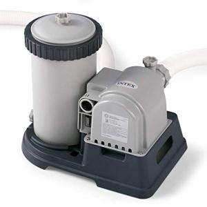 Intex 28633eg Krystal Effacer Filtre à Cartouche Pompe pour piscines Hors Sol, 2500GPH Pompe à Débit, 110–120V avec Gfci Spécialité 2500-Gallon Gris