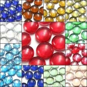 Kyz Kuv 10x Magnifique Billes de verre 14mm Perles boules Décoration Fish Tank–Vert foncé
