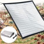 Maliyaw Résistant aux UV en Aluminium réfléchissant en Aluminium réfléchissant d'ombre de Sunblock d'ombre de Sunblock Garden Sunblock résistant pour la pelouse de Patio 1 1m