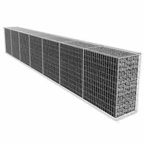 Mur de gabion avec couvercle en Acier galvanisé 600 x 50 x 100cm(L x l x H)