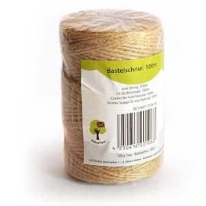 OfficeTree ® Cordons – rouleau de 100 m – cordon de jute – produit naturel de haute qualité pour la décoration des jardins et de l'artisanat – (1 rouleau)