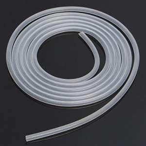Takestop® Tuyau flexible blanc transparent en acrylique 6mm x 5 m – pour aération d'aquarium, pompe de bassin, filtre liquide – Air et Eau