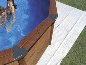Tapis de sol feutrine DREAMPOOL piscine 9.15 x 4.70m Gre Pools MPROV915