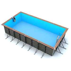 Waterclip Piscine tilos 6,80 x 3,70 x 1,47 m